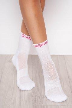 Fehér StarShinerS zokni vastag flotír belsővel