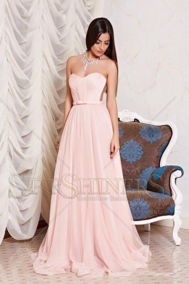 Rózsaszínű Ana Radu alkalmi ruha tűll szivacsos mellrész