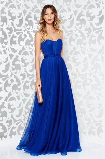 Kék Ana Radu alkalmi ruha tűből szivacsos mellrésszel