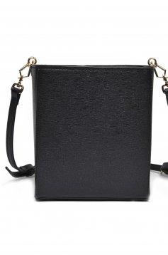 Fekete Top Secret hétköznapi táska közepes hosszuságú fülekkel