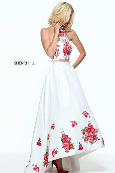 Fehér Sherri Hill 51042 Ruha