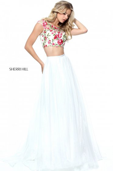 Fehér Sherri Hill 51243 Ruha