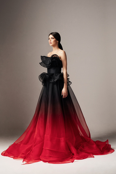 Piros Ana Radu fodros ruha belső béléssel