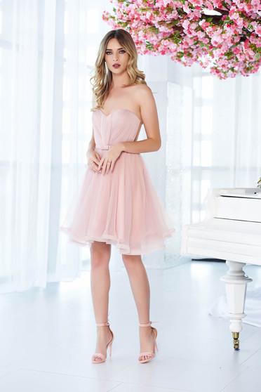 Rózsaszínű alkalmi Ana Radu fűzős ruha szivacsos mellrész