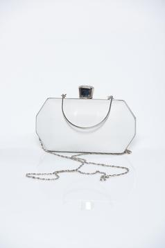 Fehér alkalmi táska csillogó díszítések