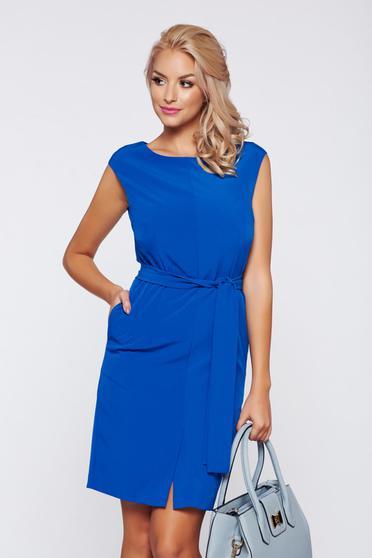 Kék Top Secret ujjatlan irodai ruha belső béléssel