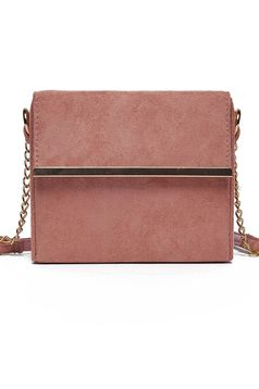 Rózsaszínű Top Secret elegáns táska lánccal