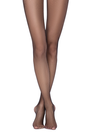 Fekete női harisnyanadrág háló típus lekerekitett sarku harisnya