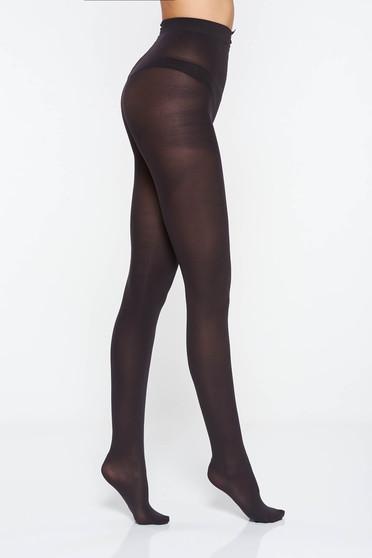 Fekete matt 80 den derekon gumirozott női harisnyanadrág