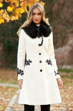 dfb4c4e513 Fehér LaDonna Be Elegant Nagykabát