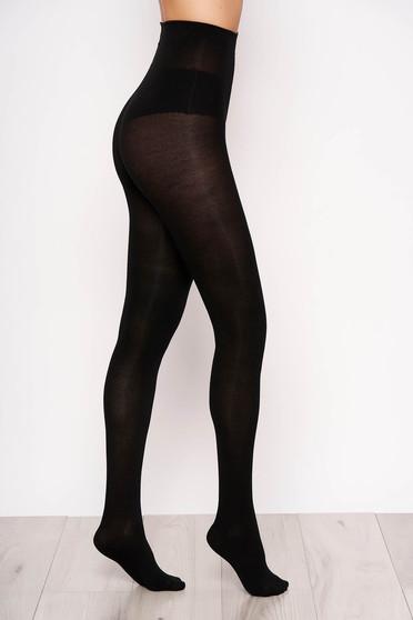 Fekete 150 den női harisnyanadrág szűk szabás rugalmas pamut