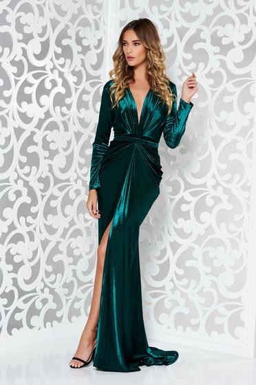 16c984f5b8 Zöld Ana Radu estélyi ruhák szirén tipusú bársony ruha. Termék kód:  S-033347-1