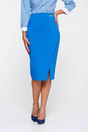 Kék LaDonna irodai szoknya belső béléssel