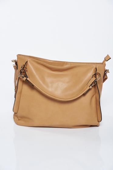 Barna casual műbőr táska