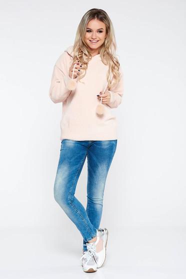 Kék MissQ casual farmer skinny farmer zsebes pamutból készült