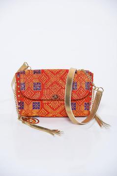 Piros MissQ casual táska hosszú lánc típusú pánt valamint rövid