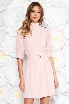 Rózsaszínű Artista elegáns ruha övvel ellátva rugalmas anyag