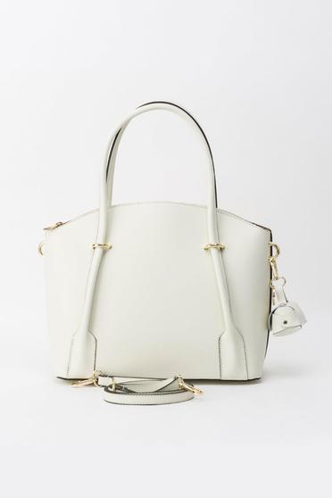 Bézs irodai táska két rekesszel és belső zsebekkel