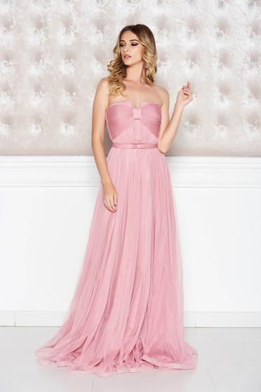Rózsaszínű Ana Radu ruha belső béléssel tüll fűzős