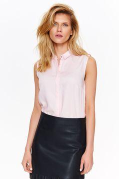 Rózsaszínű Top Secret bő szabású ujj nélküli női ing lenge anyagból