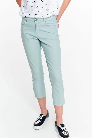 Világoskék Top Secret casual pamutból készült nadrág zsebes