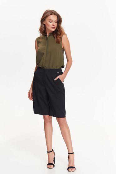 Kaki Top Secret irodai bő szabású női ing vékony anyag ujj nélküli