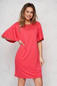 Pink Top Secret casual bő szabású ruha puha anyag rövid ujjú