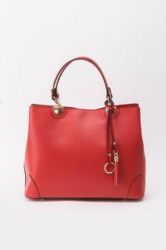 Piros irodai táska hosszú, állítható pánttal