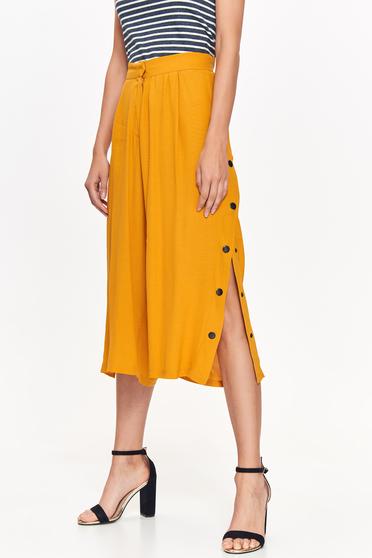 Sárga Top Secret nadrág casual magas derekú lenge anyagból deréktól bővülő szabás
