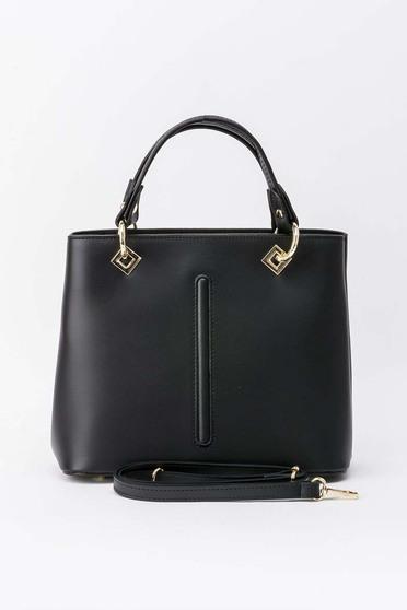 Fekete irodai táska fém kiegészítők