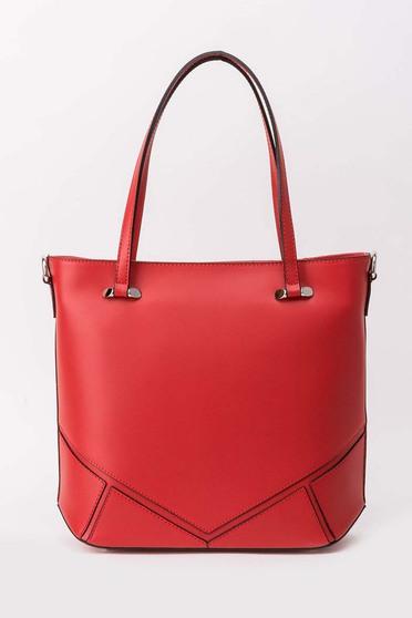 Piros táska irodai rövid fülekkel