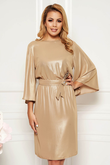 Arany StarShinerS alkalmi harang ruha vékony anyag belső béléssel derékban rugalmas