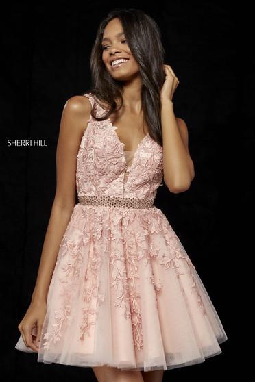 Rózsaszínű Sherri Hill 52157 Ruha