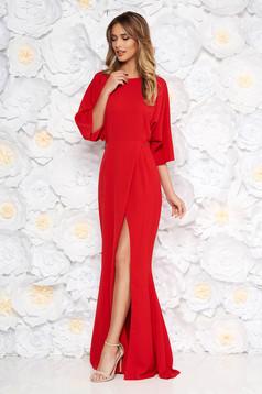 Piros alkalmi ruha enyhén rugalmas anyag finom tapintású anyag kivágott hátrész