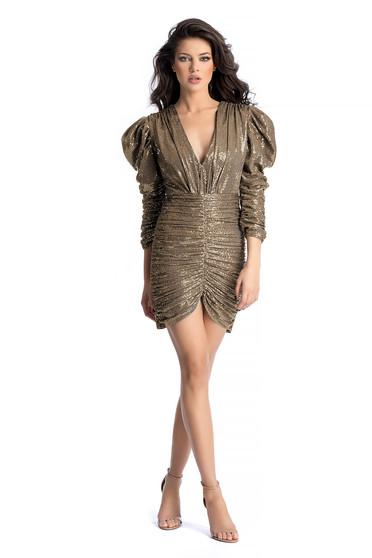 Arany Ana Radu flitteres ruha szűk szabással