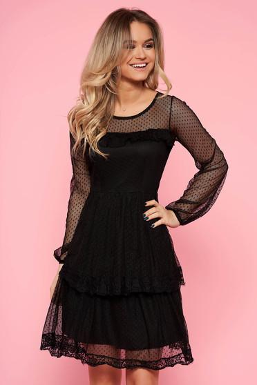 5395700d77 Fekete Top Secret ruha party harang tüll belső béléssel csipke díszítéssel