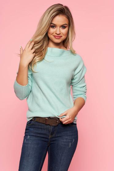 Mint Top Secret casual pulóver szűk szabás kötött anyag hosszú ujjak