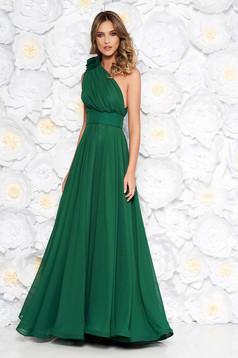 54b32a2dda Zöld Ana Radu estélyi ruhák szirén tipusú bársony ruha