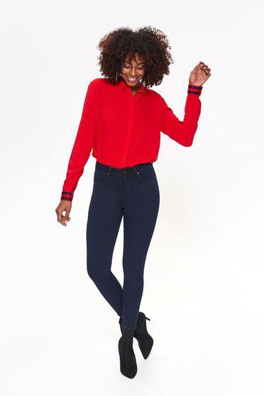 Sötétkék Top Secret casual nadrág szűk szabás enyhén rugalmas anyag
