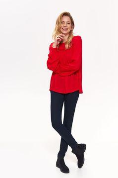 99dfdad816 Piros Top Secret casual fodros bő szabású női blúz fátyol harang ...