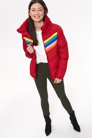Piros Top Secret rövid casual vízhatlan dzseki béléssel