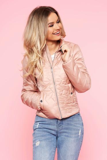 Pink Top Secret casual vízhatlan dzseki belső béléssel zsebekkel