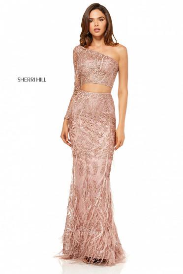 Rózsaszínű Sherri Hill 52555 Ruha