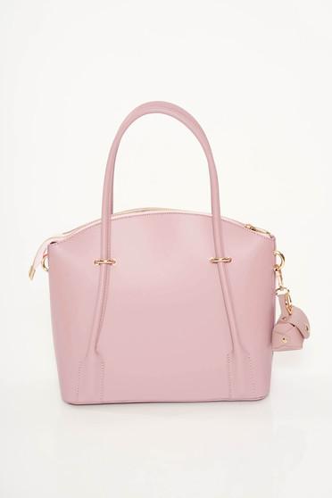 Rózsaszínű irodai táska két rekesz és belső zsebek