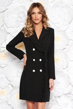 Fekete LaDonna irodai zakó tipusú ruha rugalmatlan szövet belső béléssel zsebekkel