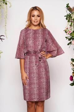 Lila StarShinerS hétköznapi bő szabású ruha béléssel övvel ellátva muszlinból