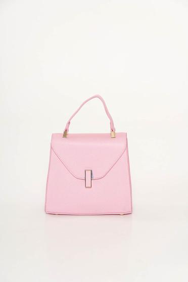 Világos rózsaszín casual táska műbőr fémes kiegészítő