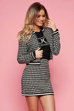 Fekete StarShinerS két részes női kosztüm szoknyával