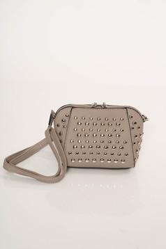 Szürke Top Secret casual táska hosszú, állítható pánt fémes szegecsekkel