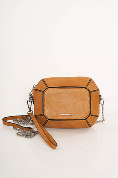 Barna Top Secret casual táska szintetikus bőr felsőrész hosszú lánc típusú pánttal
